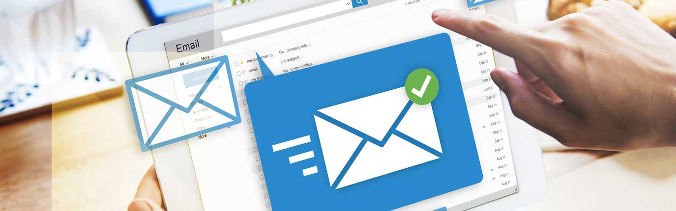 envelope icon on laptop is to show email marketing